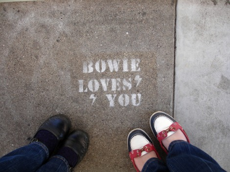 Bowie Loves You #feetfriday I jaimeevans.wordpress.com