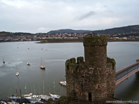 Conwy Castle Tower inlovewiththeworld.com