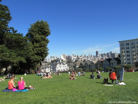 The Painted Ladies @ Alamo Square | inlovewiththeworld.com