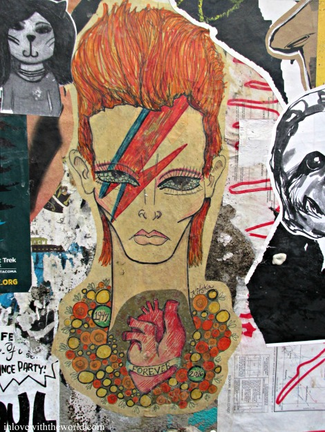 David Bowie Street Art | inlovewiththeworld.com