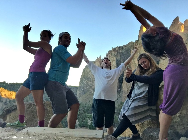 posing-silly-at-smith-rock-inlovewiththeworld-com